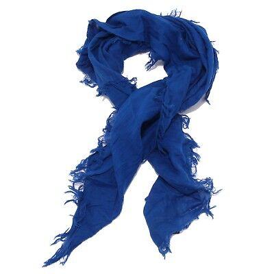 Audace 1269w Sciarpa Bimbo Woolrich Cobalt Blue Scarf Cotton Kid