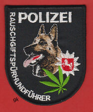 GERMAN SHEPHERD MARIJUANA K9 POLICE DRUG UNIT PATCH GERMANY POLIZEI