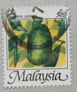 Malaysia Used Stamp - 1986 $10 Fruits Definitive Stamp - Kuini