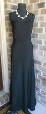 JCREW Silk Tricotine Robin Long Dress 6-P NWT $325 Black Silk Gown #11833