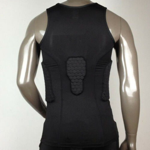 Man Anti-collision basketball Jersey Quick Dry Training Compression Padded Vest