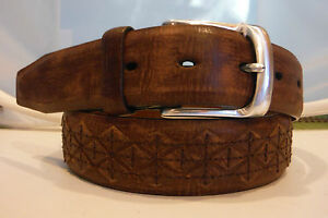 Brighton-New-MOJAVE-Leather-Belt-Size-34-Brown-NWT-M21185