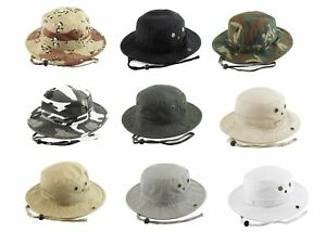 Bucket-Hat-Boonie-Hunting-Fishing-Outdoor-Cap-Washed-Cotton-NEW-Kbethos