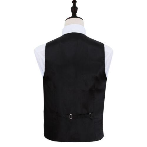 DQT Satin Plain Solid Emerald Green Mens Wedding Waistcoat /& Bow Tie Set S-5XL
