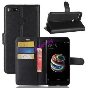 Pour-Xiaomi-mi-A1-Mii-5X-Clapet-Magnetique-Carte-Cuir-PU-Boitier-Support