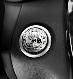 mercedes benz amg emblem 37mm sticker start knopf keyless. Black Bedroom Furniture Sets. Home Design Ideas
