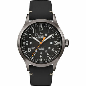 Timex-TW4B01900-Uomo-034-Expedition-034-pelle-Indiglo-Orologio-Scout-Data
