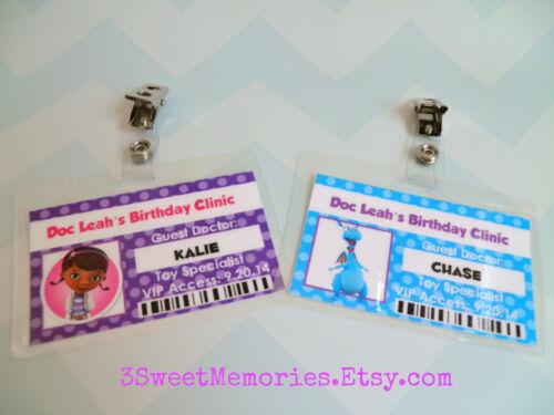Set of 8-30 Doc McStuffins Badges- Party Favors
