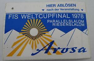 Souvenir-Aufkleber Schanfigg Graubünden Switzerland Arosa Fis Weltcupfinale 1978