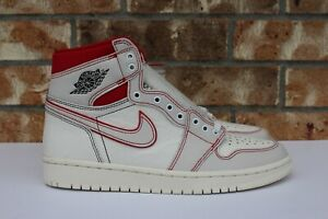7cc4a981c Men s Nike Air Jordan 1 Retro High OG Sail Phantom Red Black Size 8 ...