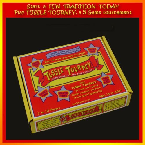 start a tradition Tussle Tourney a 5 game tournament for family and friends