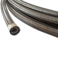 90° NC AN-6  28 In Long Stainless Steel Braid PTFE Hose Assembly straight