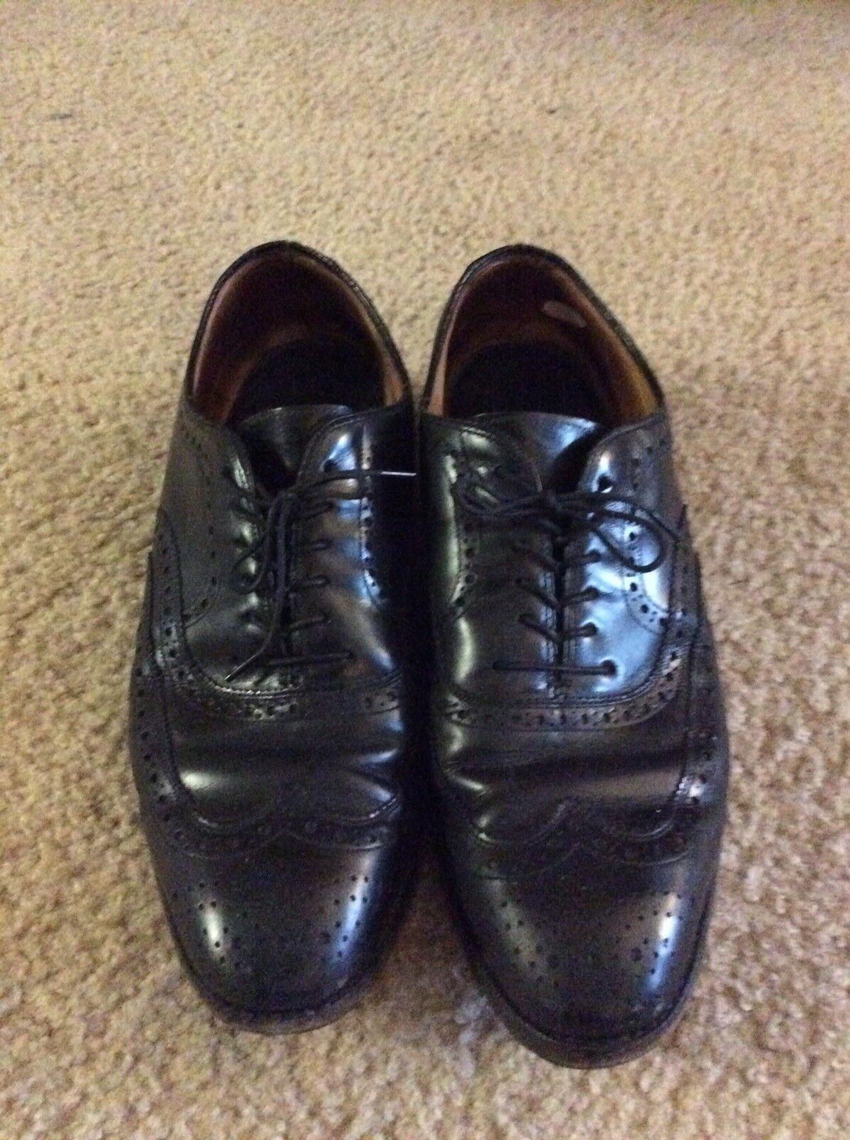 JOHNSTON & Mens MURPHY Dress Shoes 9 D Oxford Wingtip Mens & Black Leather 54706 df74e3