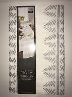 Nate Berkus Metallic Table Runner Ivory/silver Leaf 14x72nwt Dining Room Decor