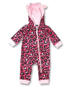 145383385557 Six Bunnies Baby Sleep  n  Play Pink Leopard Bunnies Hooded One ...