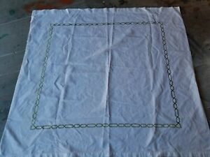 Image Is Loading Pottery Barn 034 Green Embroidered Fabric Shower