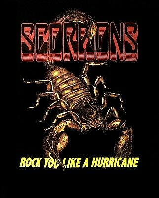 SCORPIONS cd lgo ROCK YOU LIKE A HURRICANE Official SHIRT LG New first sting IRL