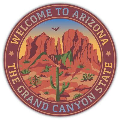 "Arizona USA State Welcome Emblem Car Bumper Sticker Decal /""SIZES/"""