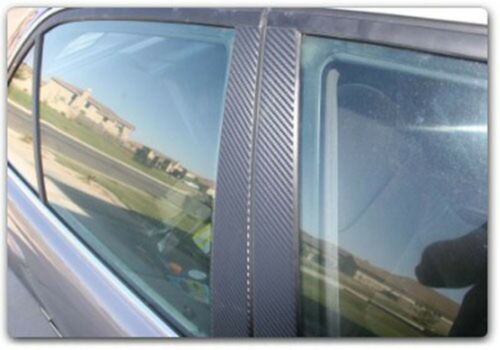 Di-Noc Carbon Fiber Pillar Posts for Fiat 500 10-15 6pc Set Door Trim Cover Kit