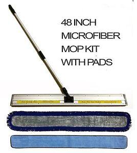 48 Inch Microfiber Mop Kit Mop Frame Telescopic Pole