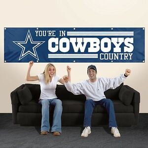 DALLAS-YOU-039-RE-IN-COWBOYS-COUNTRY-8-039-X-2-039-BANNER-8-FOOT-HEAVYWEIGHT-NYLON-SIGN