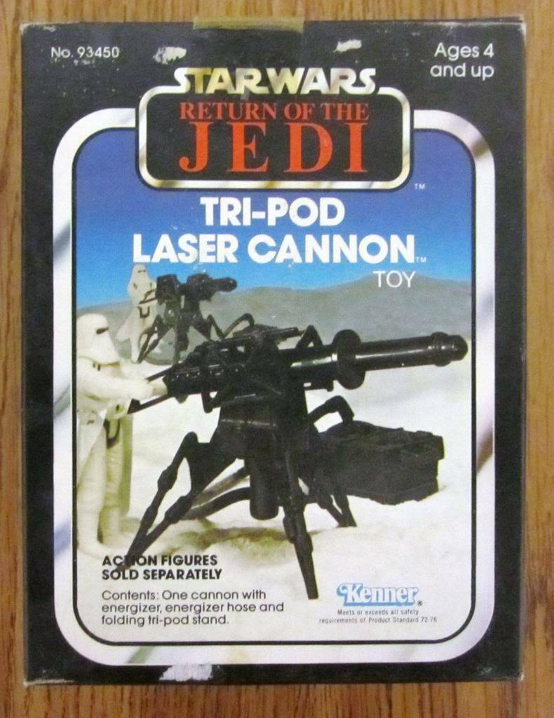 1982 Kenner Star Wars Return of the Jedi Tri-Pod Laser Cannon MISB