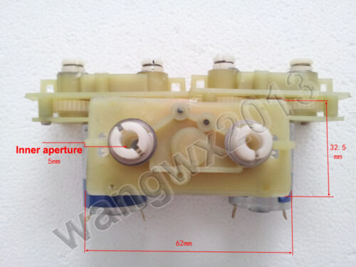 DC4.5V 1000rpm For MABUCHI 380 Double Worm Gear Motor with Gearbox for DIY Parts