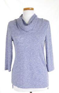 EUC-Chicos-Size-0-Lavender-Summer-Cowl-Neck-Sweater-3-4-Sleeve-Lightweight
