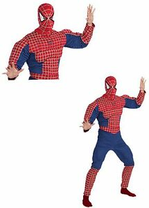 Adult-Deluxe-Muscle-Amazing-Spiderman-2-Licensed-Marvel-Halloween-Costume