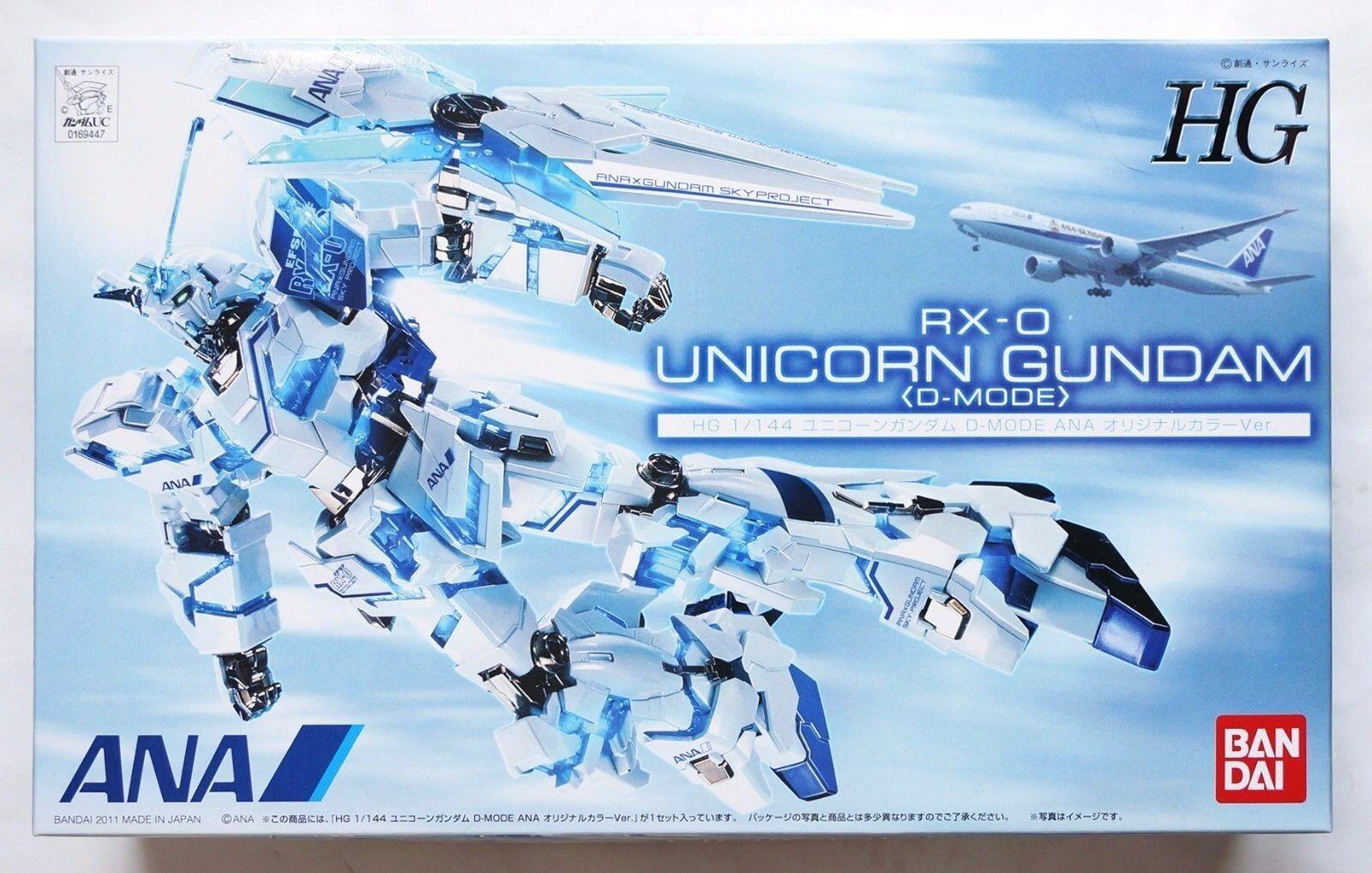 BANDAI HG 1  144 RX -0 Unicorn Gundam D -mode ANA originalfärgbegränsat modellllerlkit