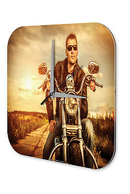 Wall Clocks The Cheapest Price Reloj De Pared Nostálgico Biker Acrylglas Impreso More Discounts Surprises