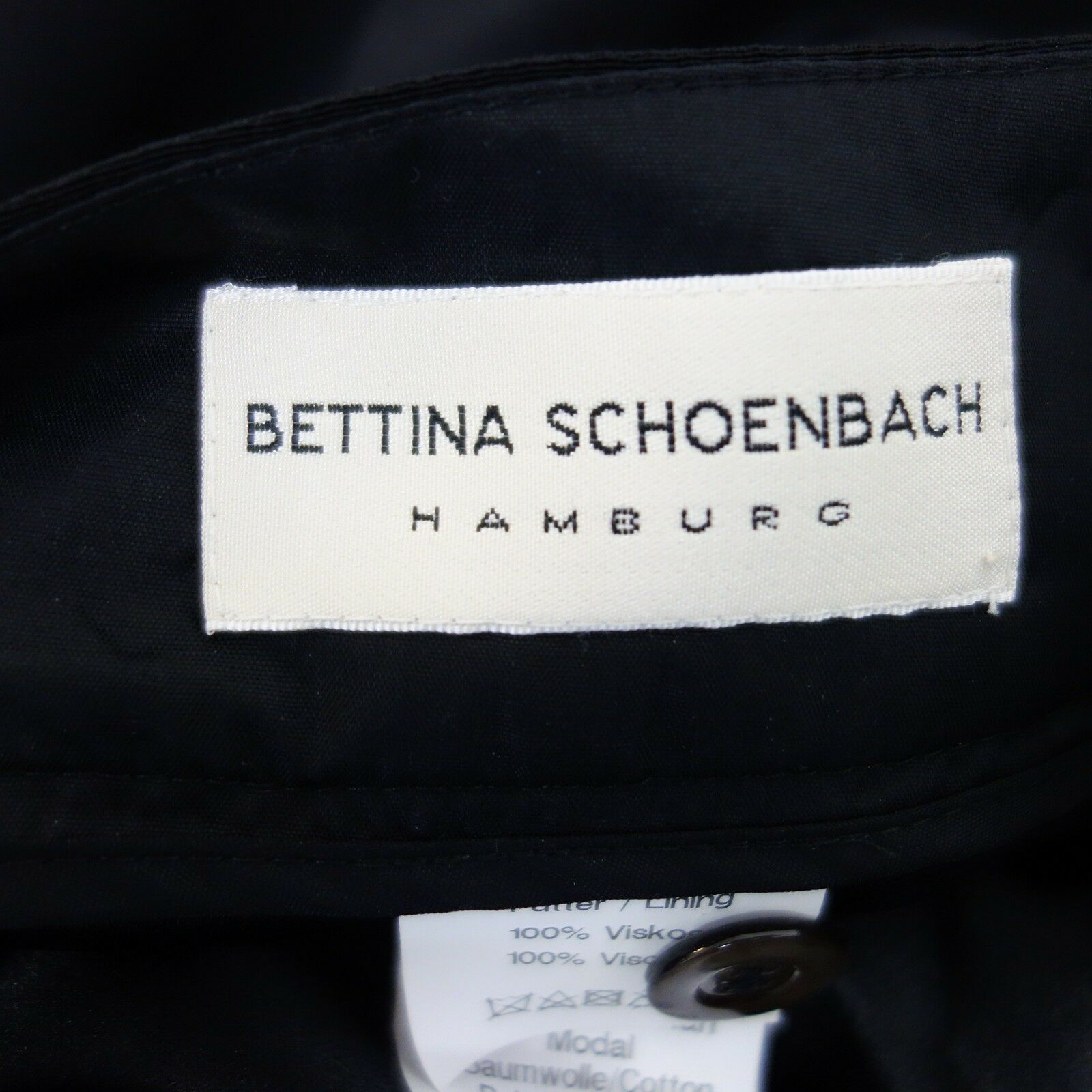 Bettina Bettina Bettina Schoenbach Pantaloni Donna 44 Nero per Party Lucido Dritto 817d1e