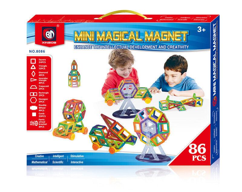 2+1 - Mini magical magnet playset 86 pcs + 58 pcs payset + 32 playset