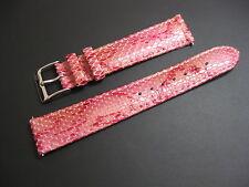 18 mm Elini Pink Genuine Italian Leather Snake Skin Watch Band strap EZ Pins