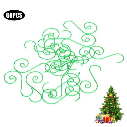 60 x Christmas Tree Hooks Bauble Ornament Hangers Hanging Decoration Wires