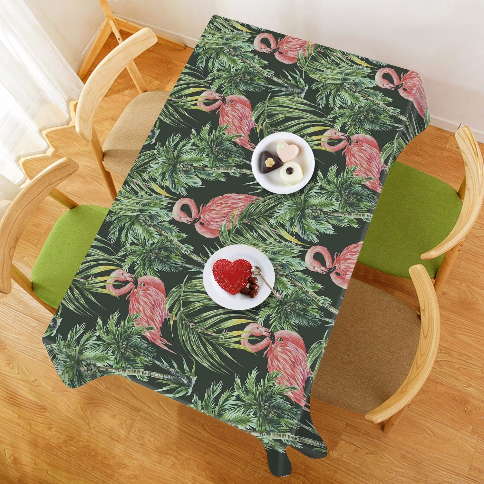 3D Flamingo 97 Tablecloth Table Cover Cloth Birthday Party Event AJ WALLPAPER AU