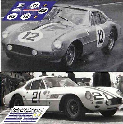 Calcas Ferrari 250 GTO Tourist Trophy 1962 1:32 1:43 24 18 64 87 slot decals