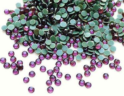144 Hot Fix Iron On Rhinestone/Craft Jewel/FREE US SHIP SS16 4mm-Violet Purple