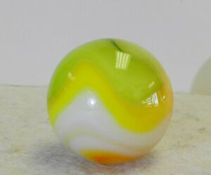 #12551m Vintage Vitro Agate Shooter Marble .91 Inches
