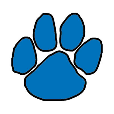 25 Blue Paw Temporary Tattoos, School Spirit Mascot Face Tats | eBay