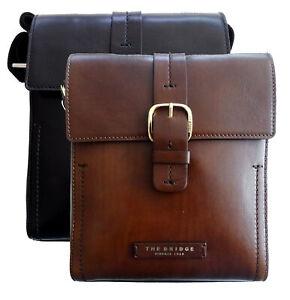 Borsa-Borsello-THE-BRIDGE-pattina-Tracolla-Regolabile-Shoulder-Bag-pelle-leather