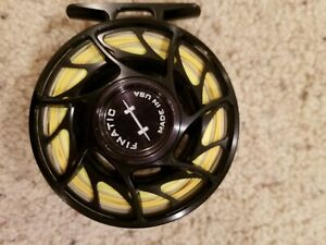 Hatch-Finatic-4-Plus-Fly-Reel-Used-Nice-Finatic-Four-Plus-no-case