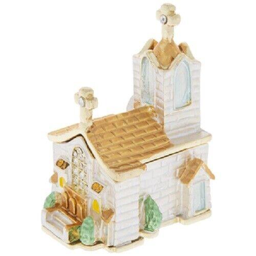 Trinket Box Little White Church Jewelry