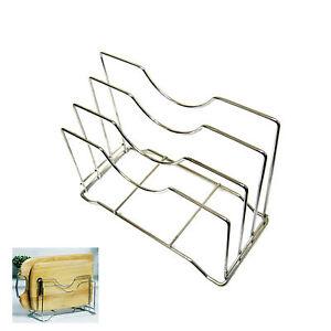 Stainless-Steel-Wire-Chopping-Board-Holder-Cutting-Board-Rack-Kitchen-Organizer