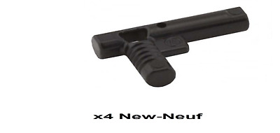 4 x LEGO 60849 Minifigure Arme Pistolet gris grey Gun Hose Nozzle NEUF NEW
