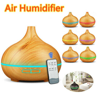 Electric Oil Humidifier Air Diffuser Aroma Night Light Up Difuser Home 300ML UK