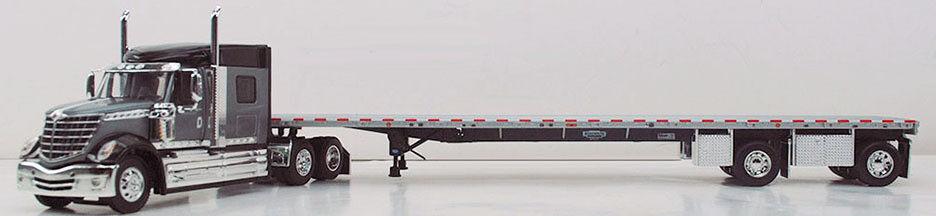DCP grau schwarz INTERNATIONAL LONESTAR schwarz FRAME FLATBED TRAILER DIECAST 34067