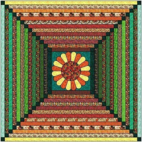 Quilt Kit Autumn Glow//Autumn Fabrics and Bright Tonal Strip Quilt//Beginner