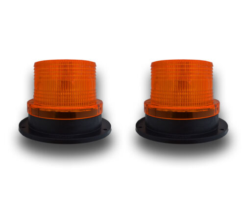 2 x 12-36V LED THREE BOLT FLASHING BEACON COMMERCIAL INDUSTRIAL PLANT VEHICLES