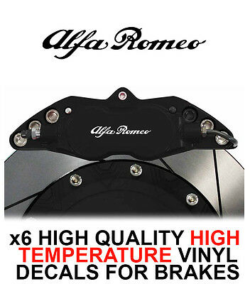 ALFA ROMEO HI - TEMP CAST VINYL BRAKE CALIPER DECALS STICKERS